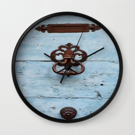 Letters, Knocker, Handle Wall Clock