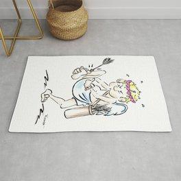 Cupid's Arrow Funny Love Art Rug