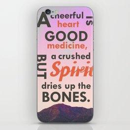 A Cheerful Heart Typographic Art iPhone Skin