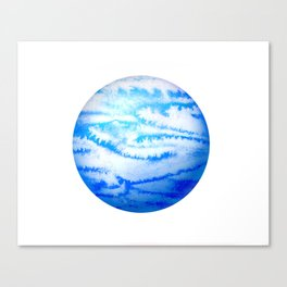 Illustration of watercolor round planet Canvas Print