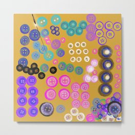 Sorting the Buttons Metal Print