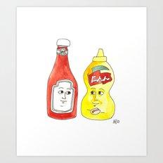 Condiment Friendship Art Print