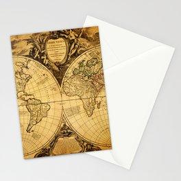 Vintage World Map 1752 Stationery Cards