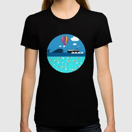 Meeting with whale T-shirt