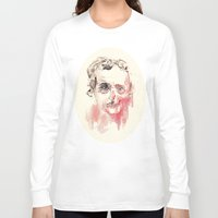 poe Long Sleeve T-shirts featuring Poe by Elena López Macías