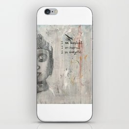 Mantra For Self Accountability iPhone Skin