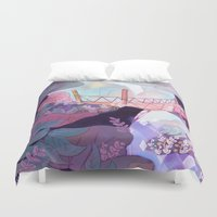 bridge Duvet Covers featuring Bridge by sarlisart