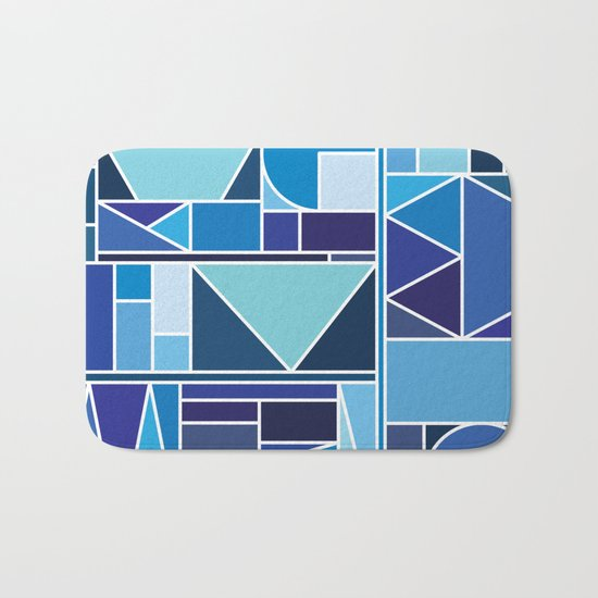 Kaku Blue Bath Mat