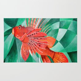 Marine Fire Fish or Lionfish Rug
