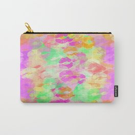 juicy kiss lipstick abstract pattern in pink orange green purple Carry-All Pouch