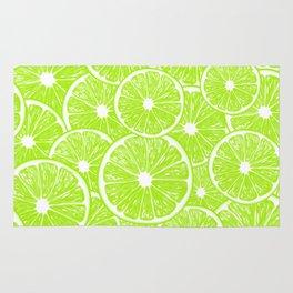 Lime slices pattern Rug