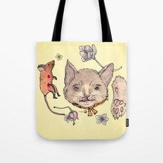Al gato y al raton Tote Bag
