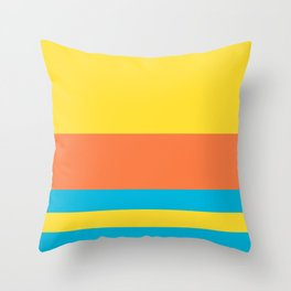 Colours of Bart Throw Pillow