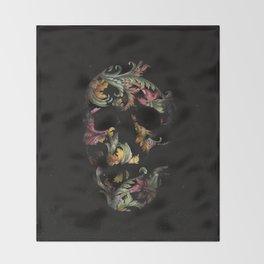Paisley Skull Throw Blanket