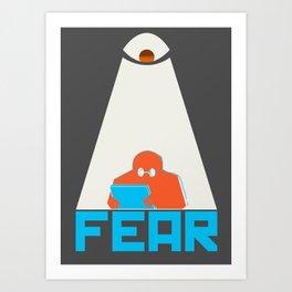 Fear the NSA Art Print