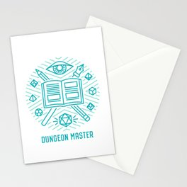 Dungeon Master Emblem Stationery Cards