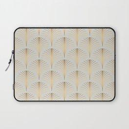 Golden Fan Leaf Art Deco Laptop Sleeve