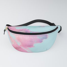 Blue Iridescent Vein Marble Fanny Pack