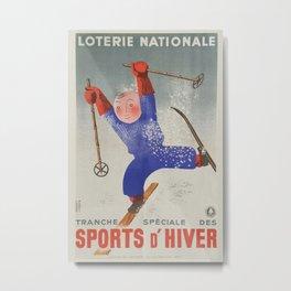 Vintage poster - Sports D'Hiver Metal Print