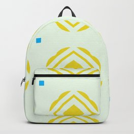 Sun flowers with blue dots Backpack