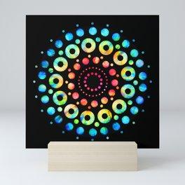 Multi-Color Mandala Tie-Dye Circle Shapes Mini Art Print