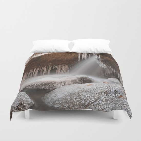 Stream of Frozen Hope Duvet Cover