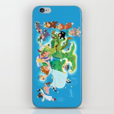 Neverland wall painting iPhone & iPod Skin