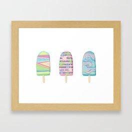Popsicle Triptych Framed Art Print