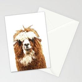 Alpaca Portrait Stationery Cards