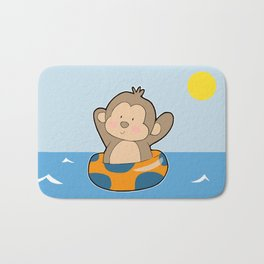 Summer Monkey Bath Mat