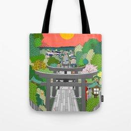 Passage to Light - Miyajidake Shrine Tote Bag