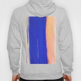 Modern abstract watercolor yellow navy blue brush strokes Hoody