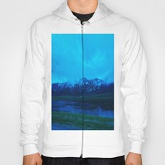 Blue Winter Mountain Hoody