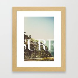 I want to go surfing Framed Art Print