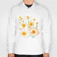 daisies Hoodies featuring Daisies by maria carluccio