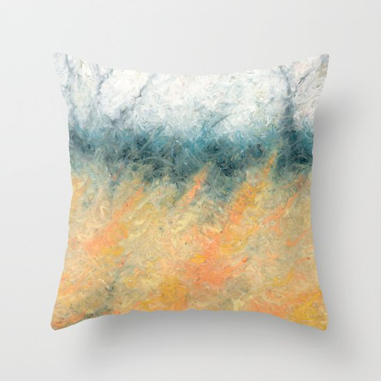 The Day's Deal With The Coming Night Throw Pillow