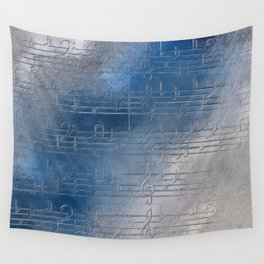Silver music Wall Tapestry