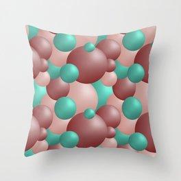 Pink and green balls Throw Pillow