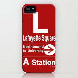Lafayette Square Northbound iPhone Case