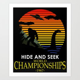Hide And Seek World Championships 1967 Art Print