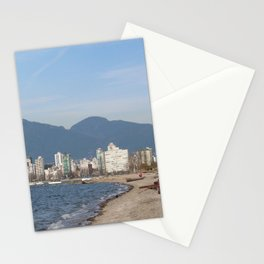 View of Vancouver from Kits Beach Stationery Cards