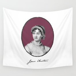 Authors - Jane Austen Wall Tapestry