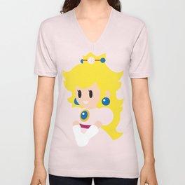 Princess Peach - Minimalist  Unisex V-Neck