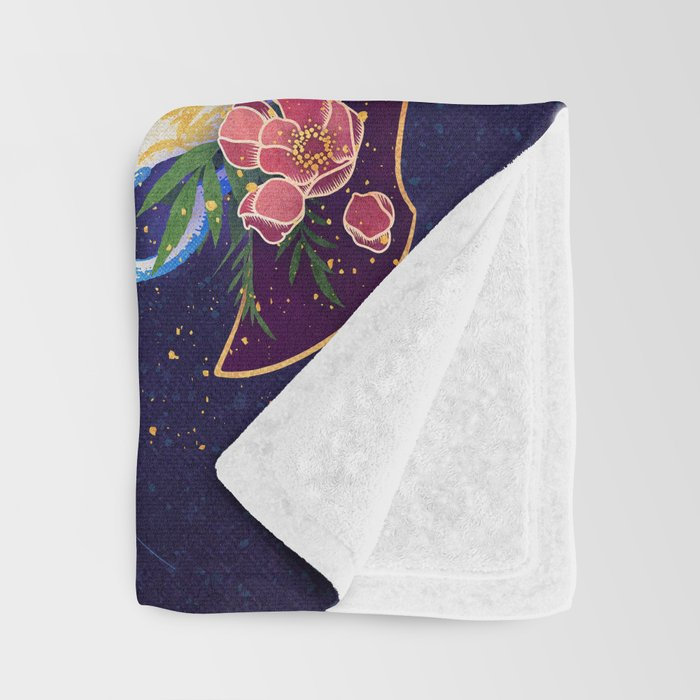 Kelly-Ann Maddox Collection :: Tea and Tarot (Illustrated) Throw Blanket