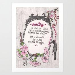 Hanging Sakura - Venus de Vilo Art Print