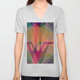 Colorful, abstract swans Unisex V-Neck