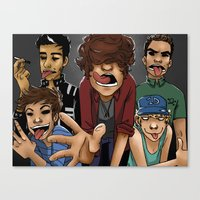 1d Canvas Prints featuring Gorillaz 1D by cargline