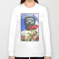 buddah Long Sleeve T-shirts featuring Buddah Serenity by Magmata