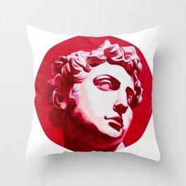 Pink Staue Throw Pillow