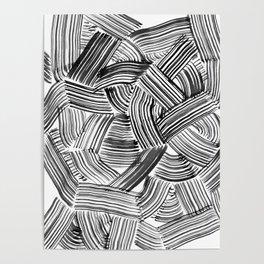Tangled Brushstrokes Poster